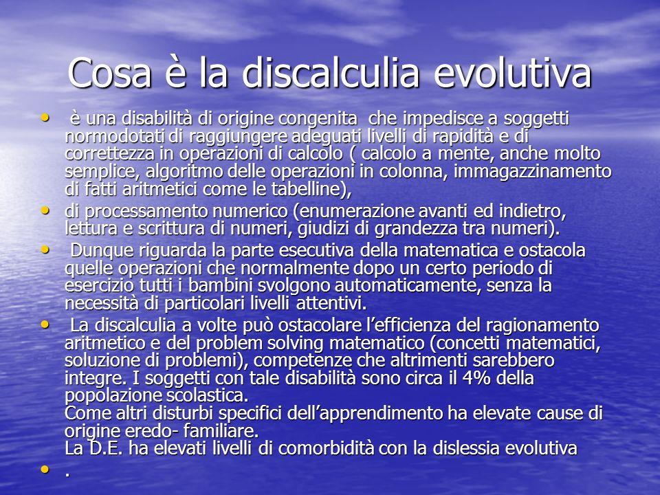 Cosa è la discalculia evolutiva