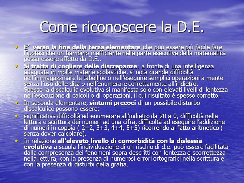 Come riconoscere la D.E.
