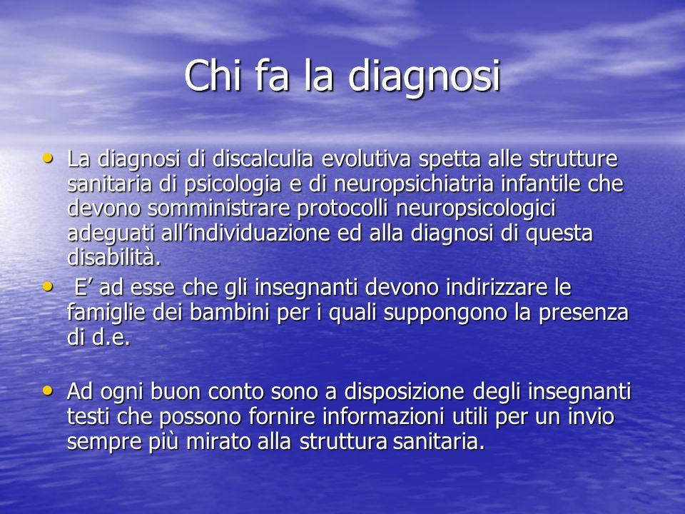 Chi fa la diagnosi