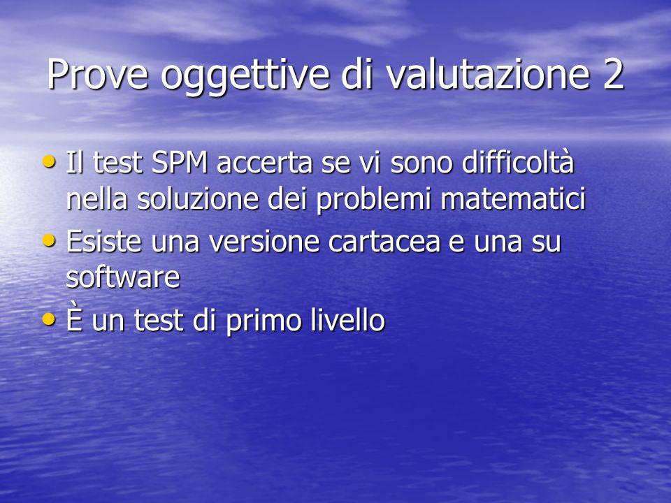 Prove oggettive di valutazione 2