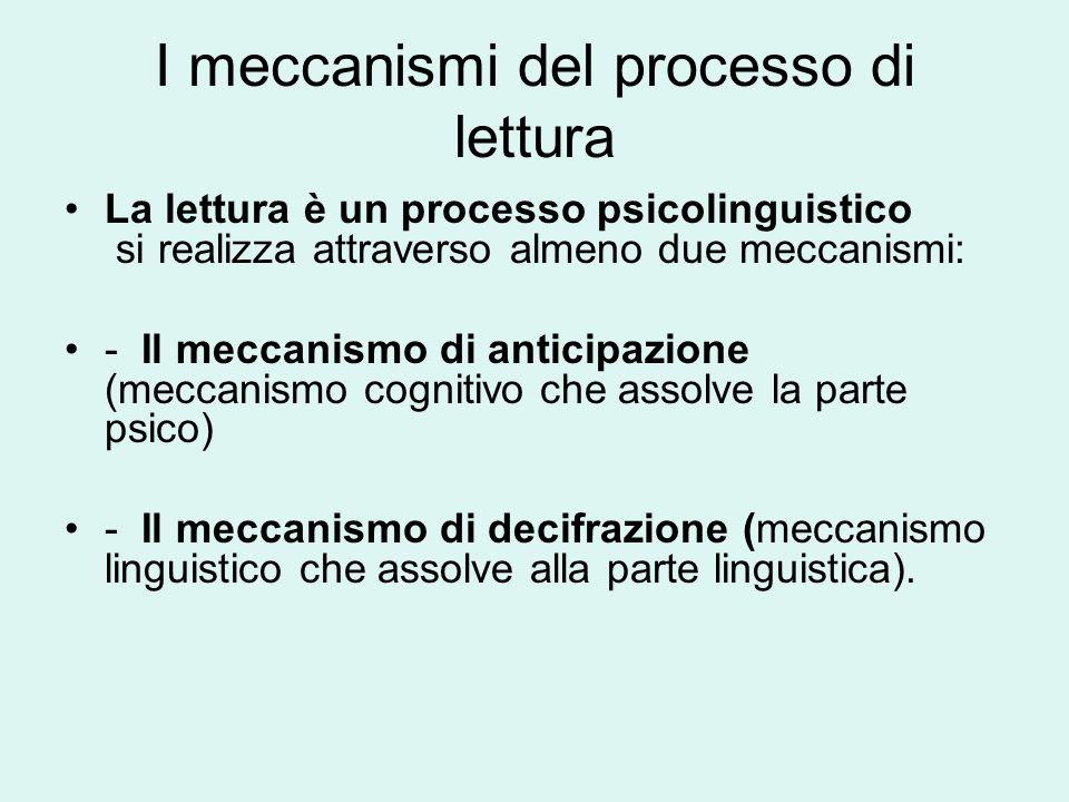 I meccanismi del processo di lettura