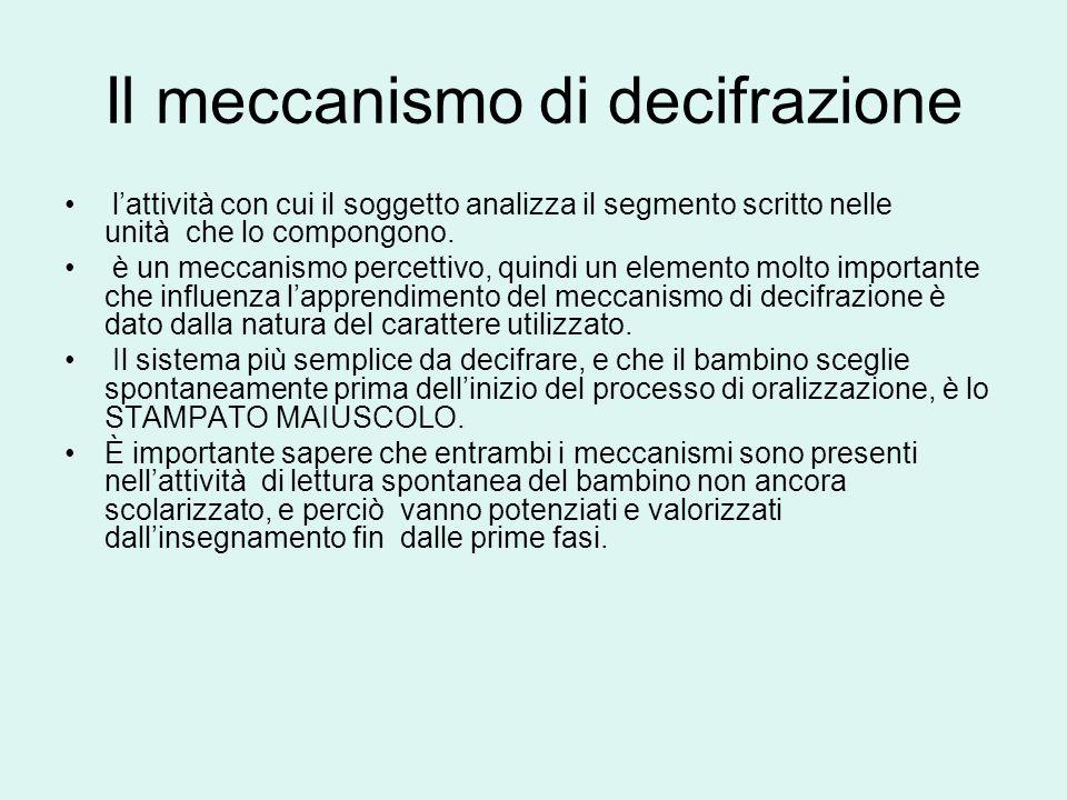 Il meccanismo di decifrazione