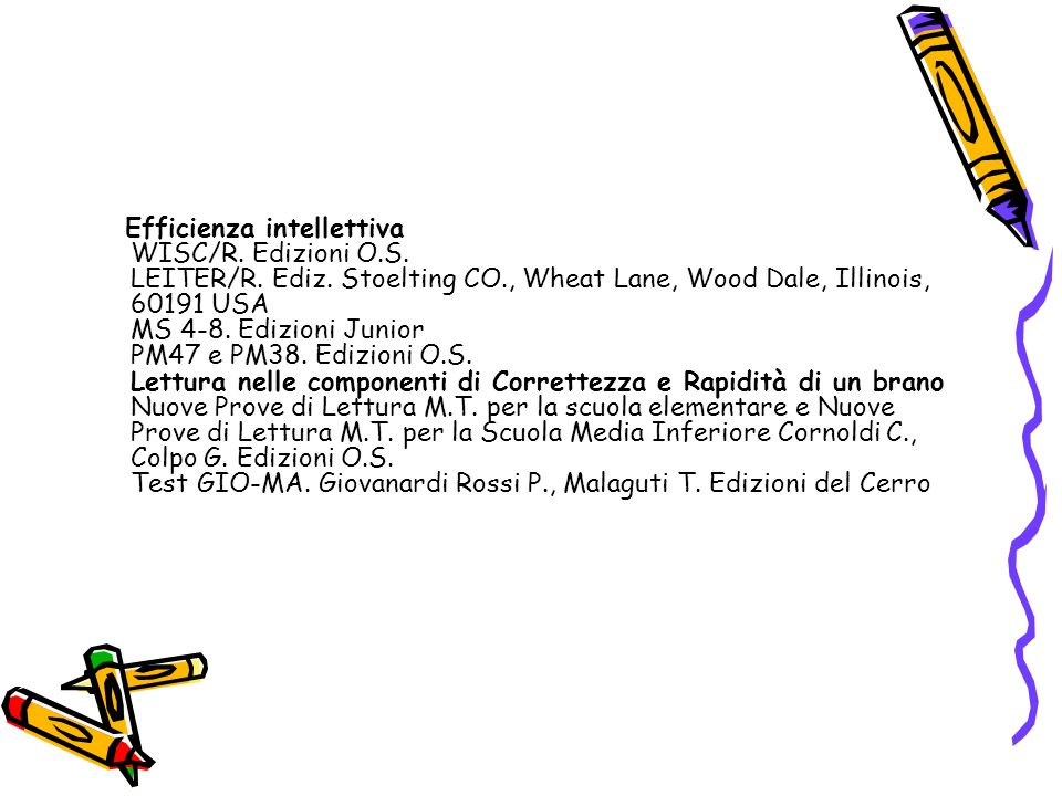 Efficienza intellettiva WISC/R. Edizioni O. S. LEITER/R. Ediz
