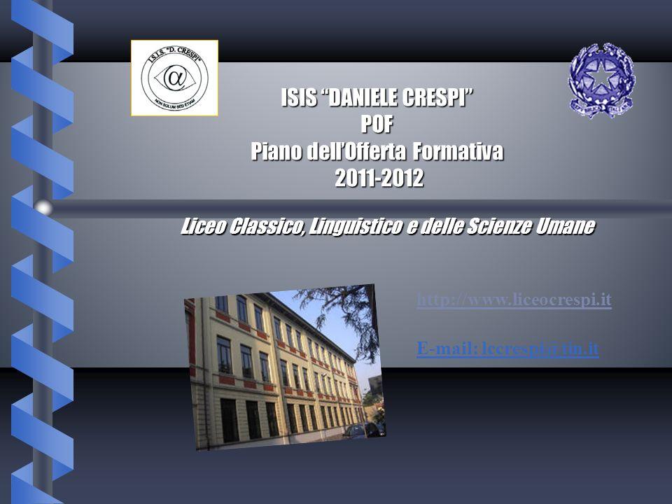 ISIS DANIELE CRESPI POF Piano dell'Offerta Formativa 2011-2012