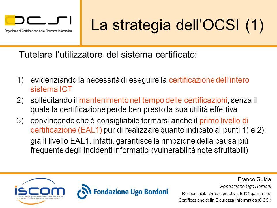 La strategia dell'OCSI (1)