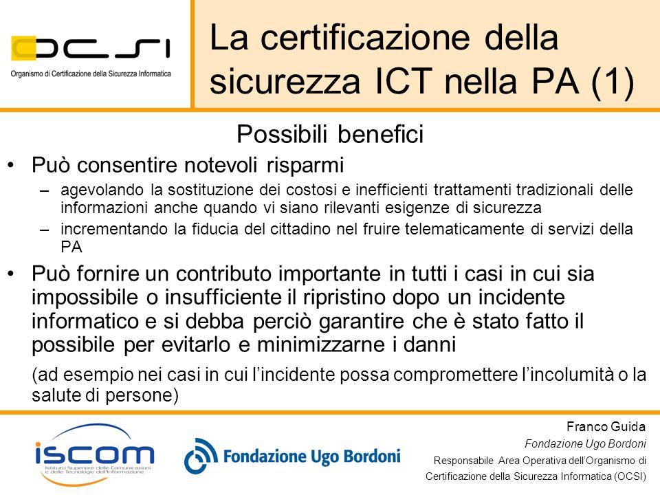 La certificazione della sicurezza ICT nella PA (1)