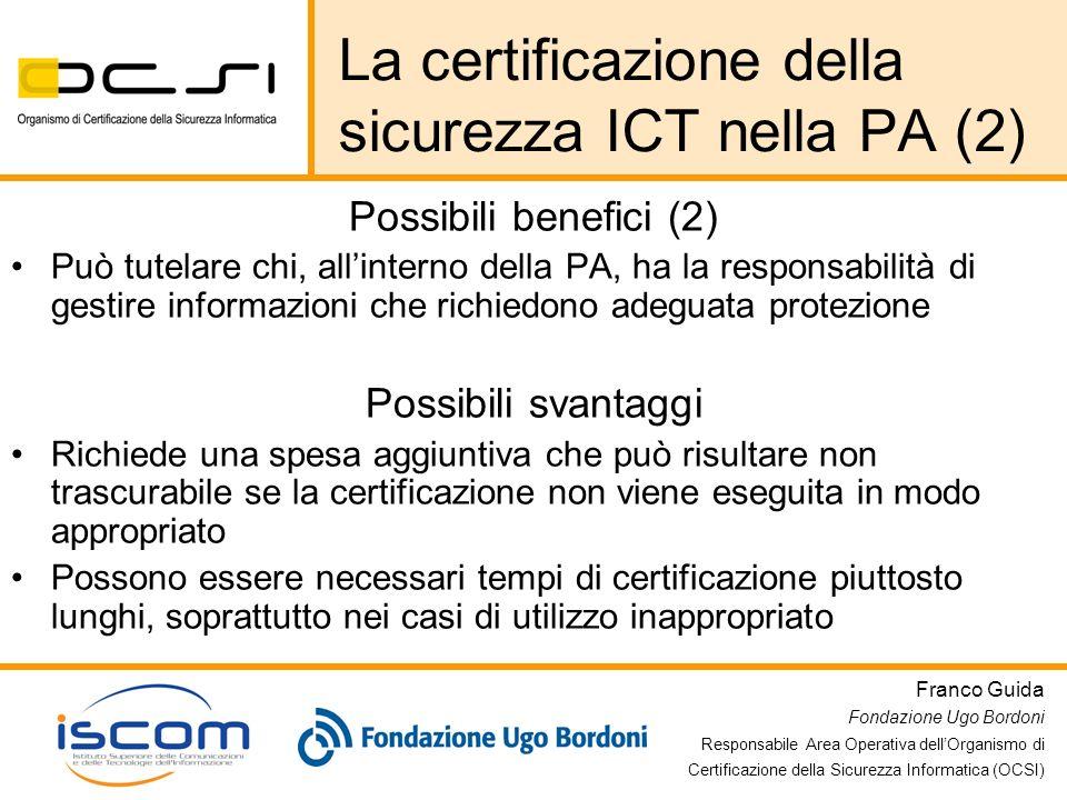 La certificazione della sicurezza ICT nella PA (2)