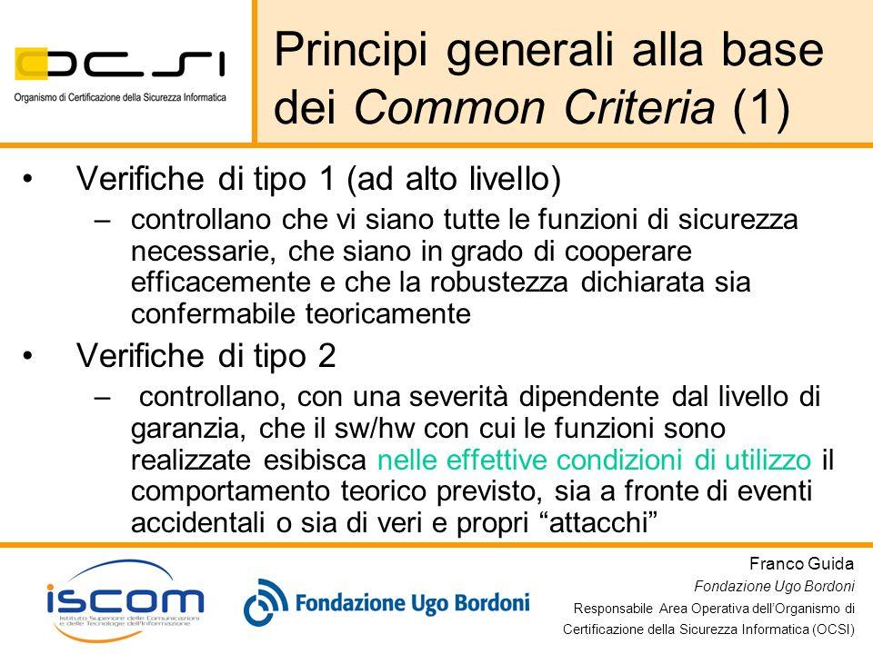 Principi generali alla base dei Common Criteria (1)