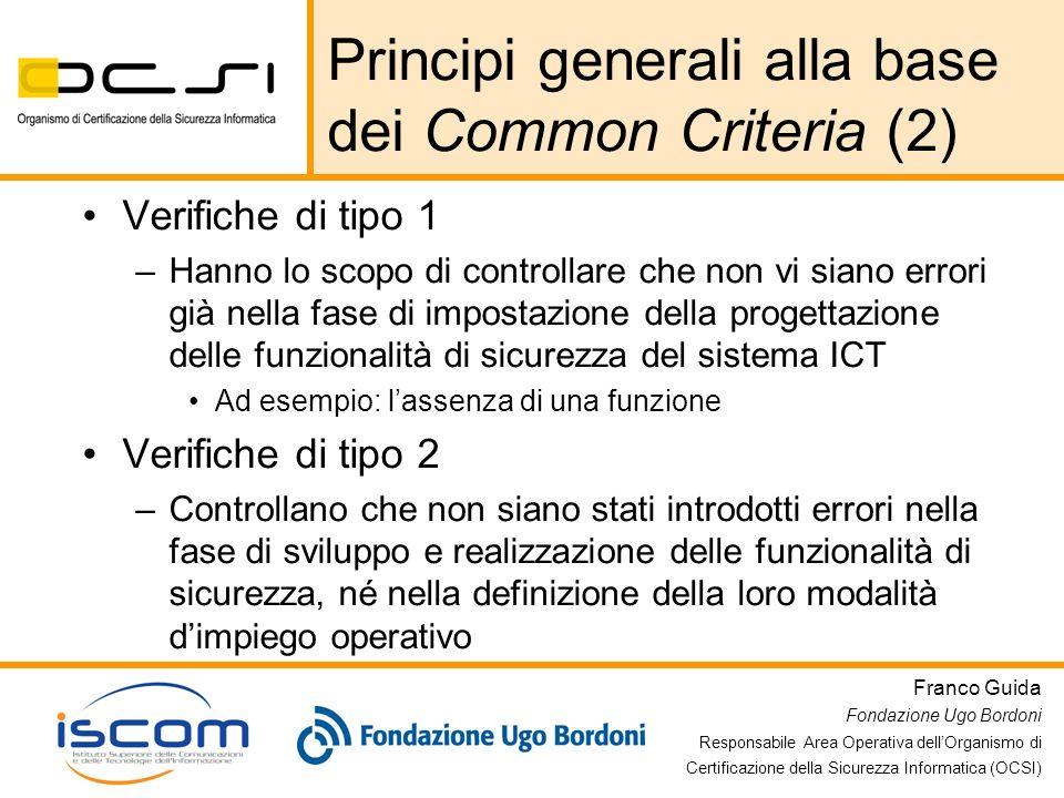 Principi generali alla base dei Common Criteria (2)