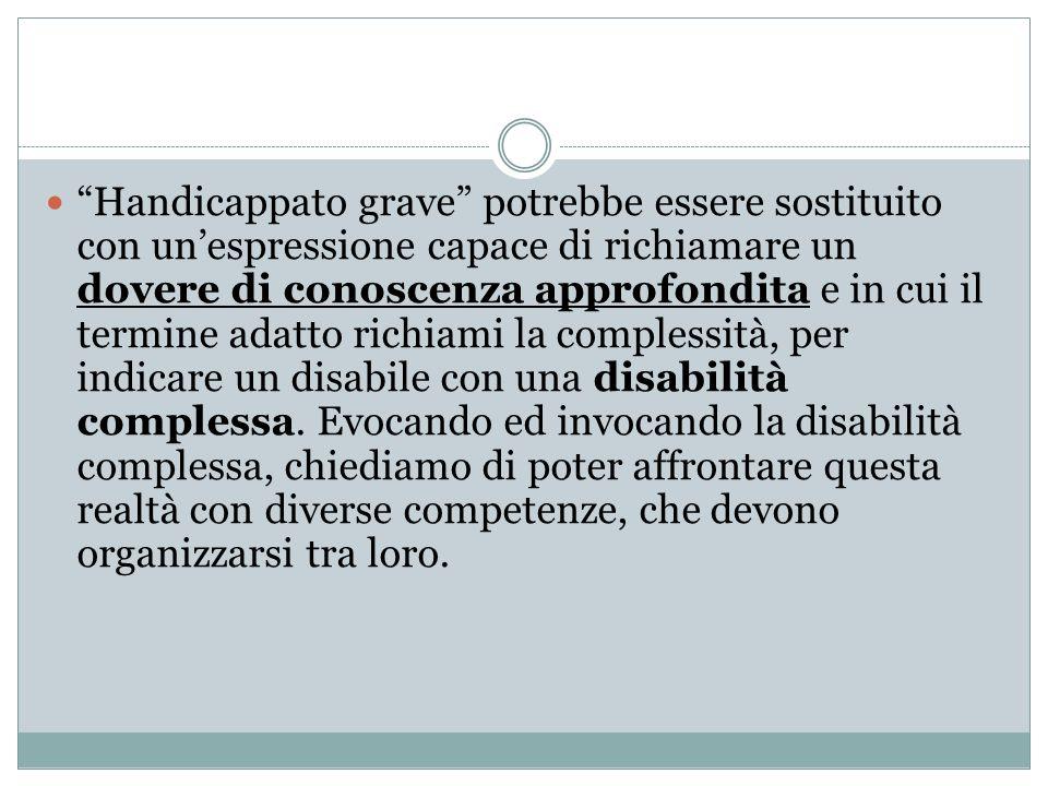LA DISABILITÀ COMPLESSA (a. Canevaro)