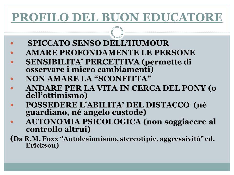 PROFILO DEL BUON EDUCATORE