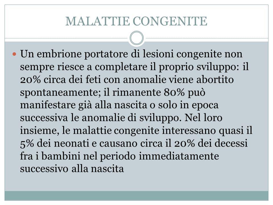 MALATTIE CONGENITE