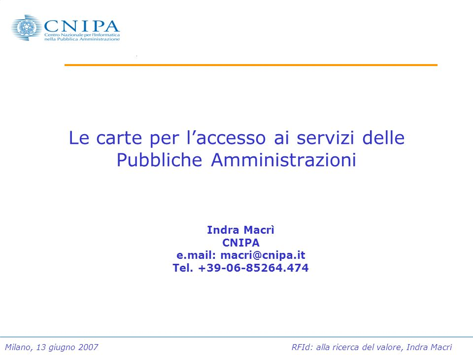 Le carte per l'accesso ai servizi delle Pubbliche Amministrazioni