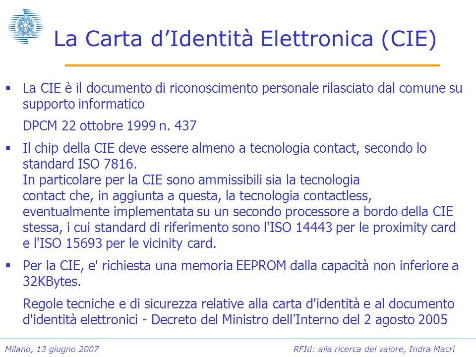 La Carta d'Identità Elettronica (CIE)