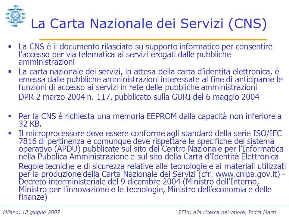 La Carta Nazionale dei Servizi (CNS)