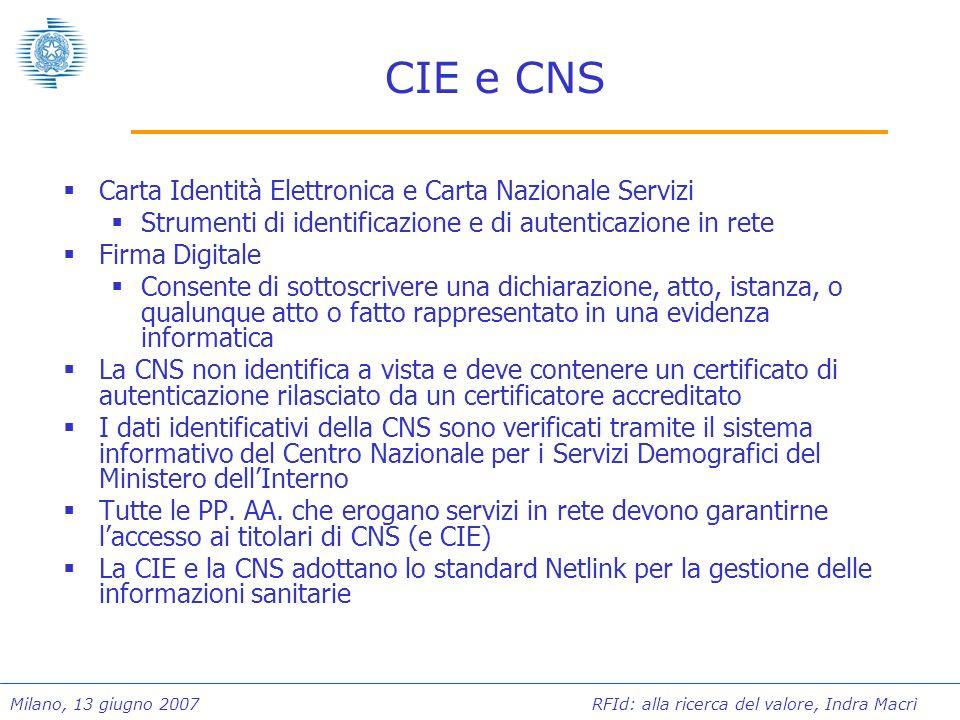 CIE e CNS Carta Identità Elettronica e Carta Nazionale Servizi