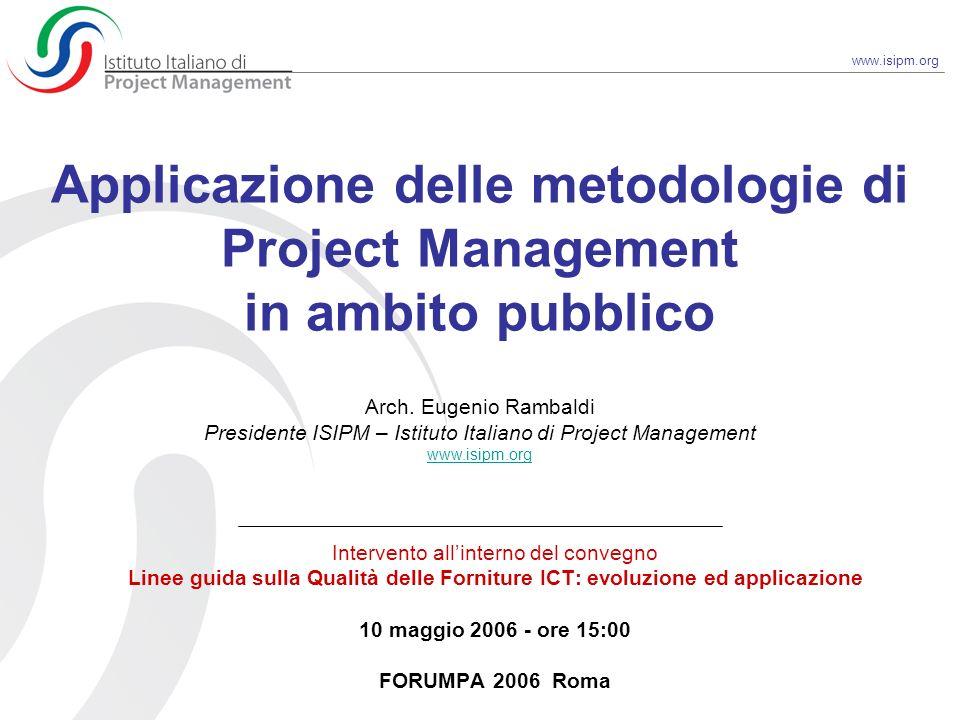 Applicazione delle metodologie di Project Management in ambito pubblico