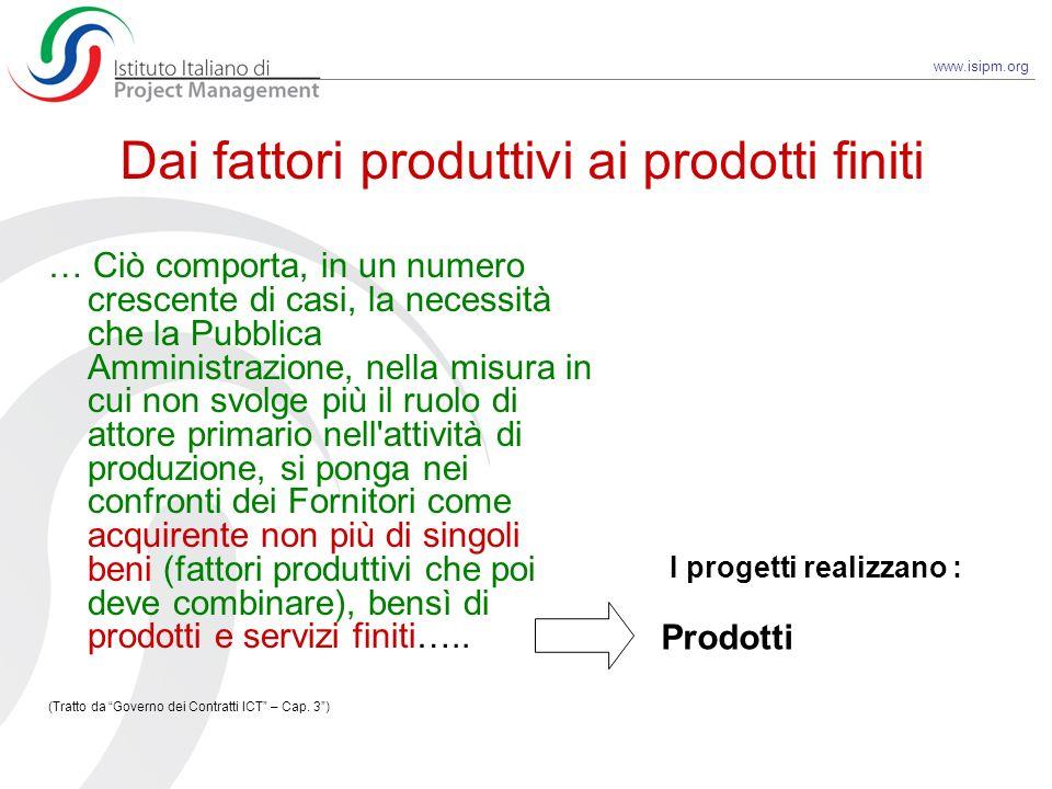 Dai fattori produttivi ai prodotti finiti