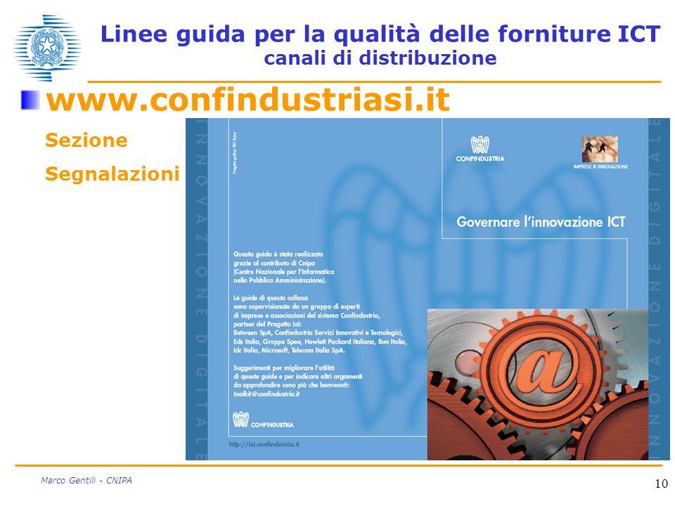 Linee guida per la qualità delle forniture ICT canali di distribuzione