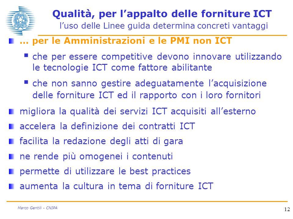 Qualità, per l'appalto delle forniture ICT l'uso delle Linee guida determina concreti vantaggi