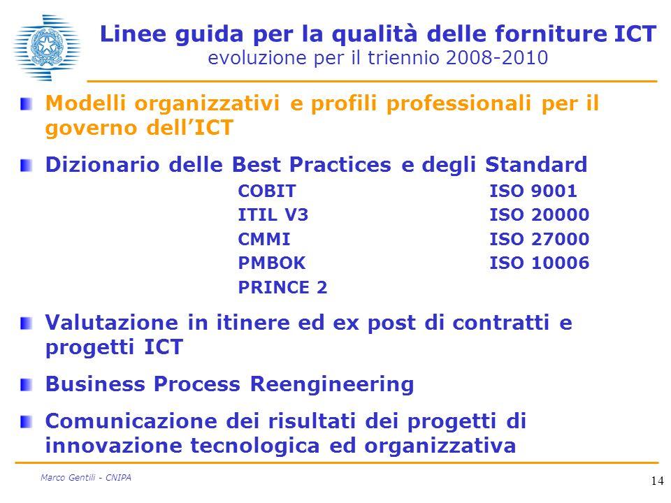 Linee guida per la qualità delle forniture ICT evoluzione per il triennio 2008-2010