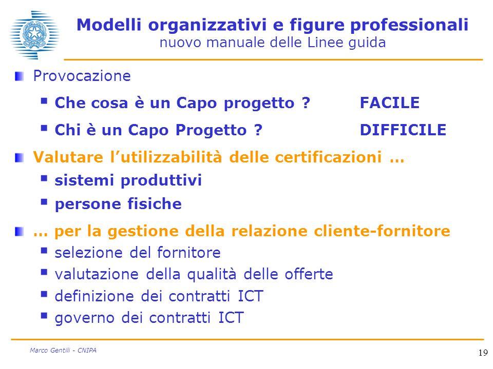 Modelli organizzativi e figure professionali nuovo manuale delle Linee guida