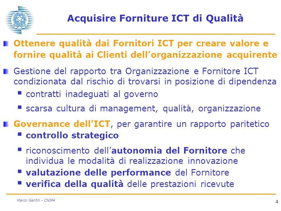 Acquisire Forniture ICT di Qualità