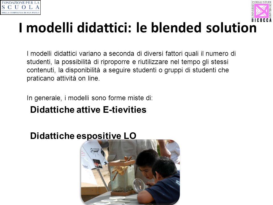I modelli didattici: le blended solution