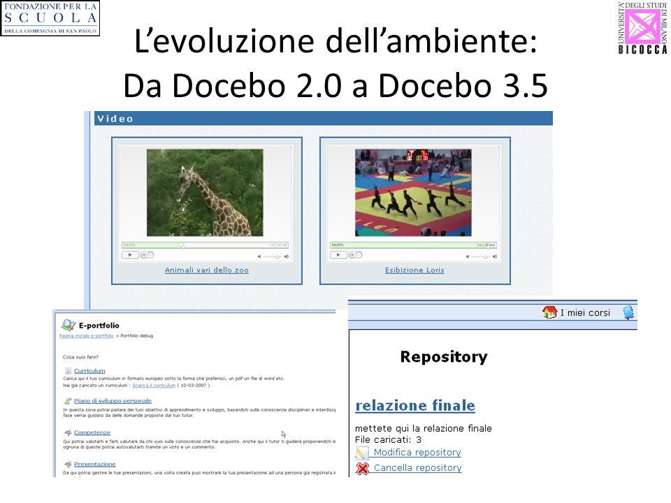 L'evoluzione dell'ambiente: Da Docebo 2.0 a Docebo 3.5