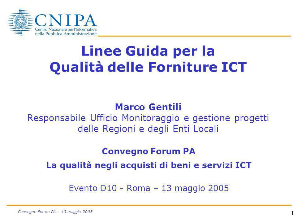 La qualità negli acquisti di beni e servizi ICT