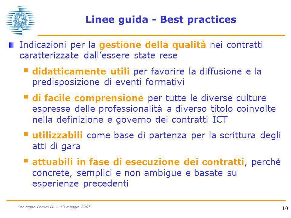 Linee guida - Best practices