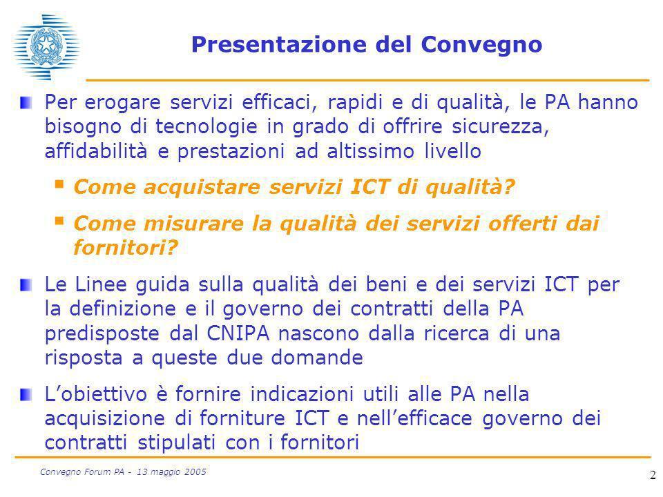 Presentazione del Convegno