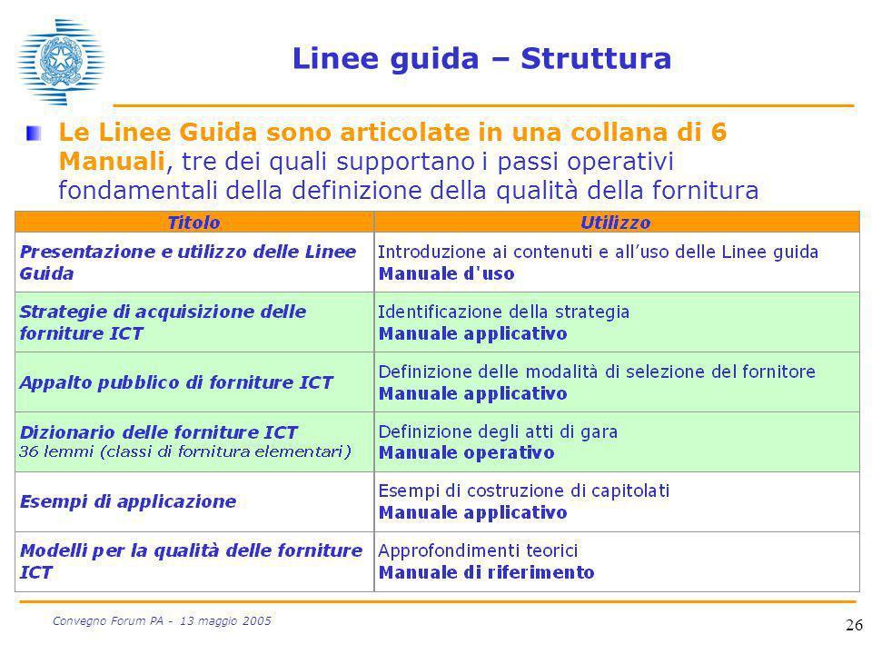 Linee guida – Struttura
