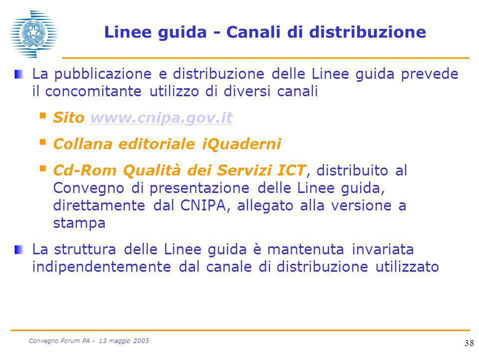 Linee guida - Canali di distribuzione