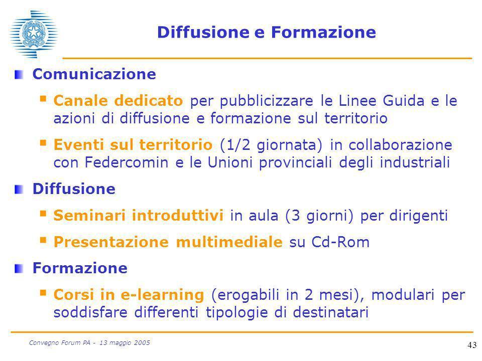 Diffusione e Formazione