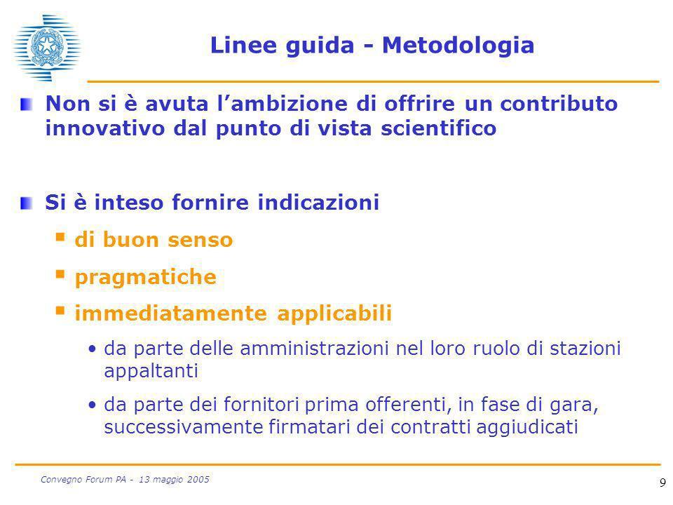 Linee guida - Metodologia