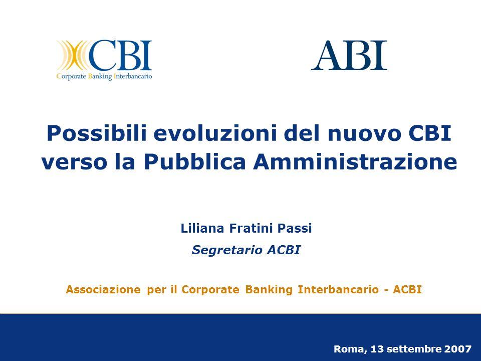 Possibili evoluzioni del nuovo CBI verso la Pubblica Amministrazione