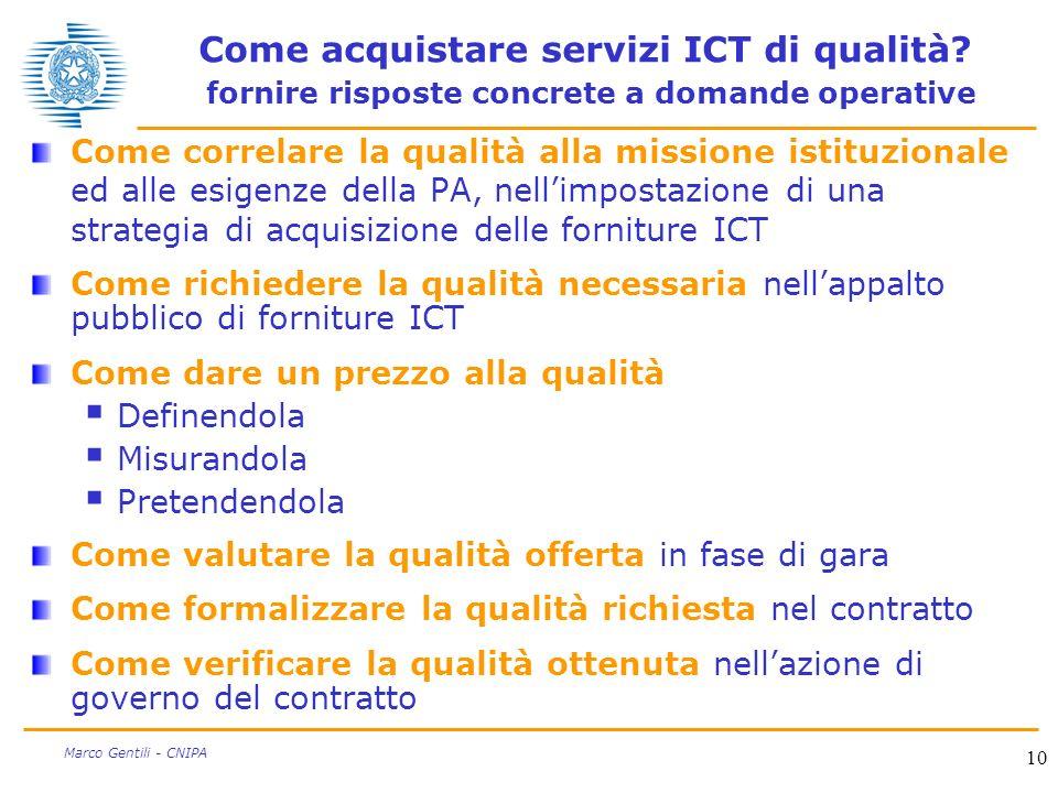 Come acquistare servizi ICT di qualità