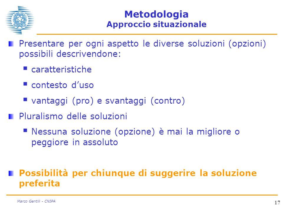 Metodologia Approccio situazionale