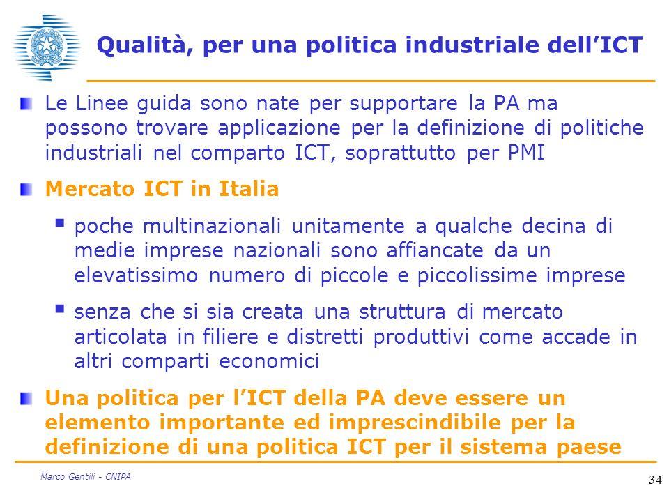 Qualità, per una politica industriale dell'ICT