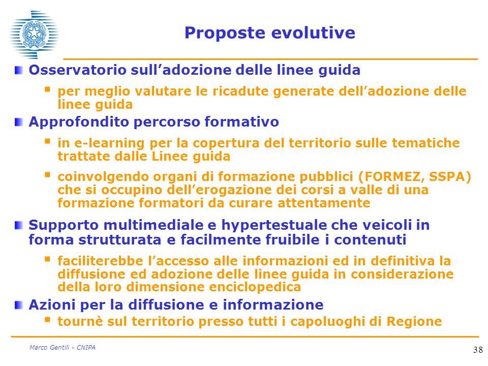 Proposte evolutive Osservatorio sull'adozione delle linee guida