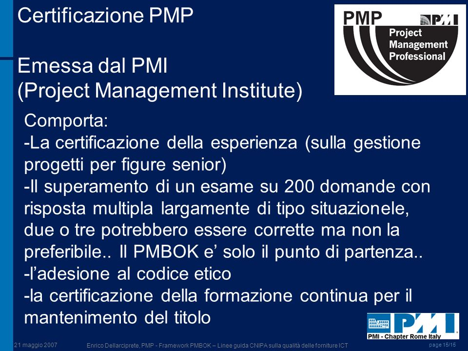 (Project Management Institute)