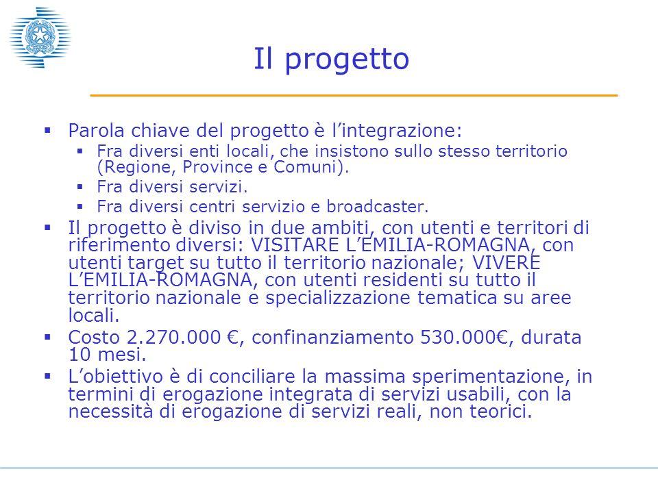 Il progetto Parola chiave del progetto è l'integrazione: