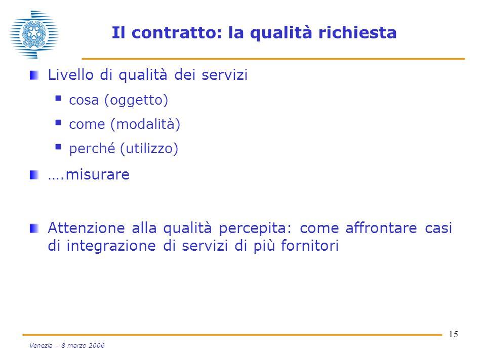 Il contratto: la qualità richiesta