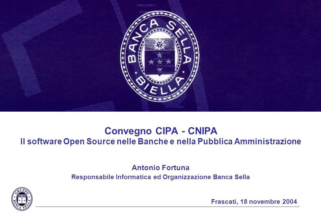 Antonio Fortuna Responsabile Informatica ed Organizzazione Banca Sella