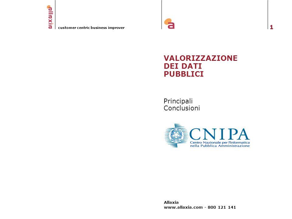 VALORIZZAZIONE DEI DATI PUBBLICI