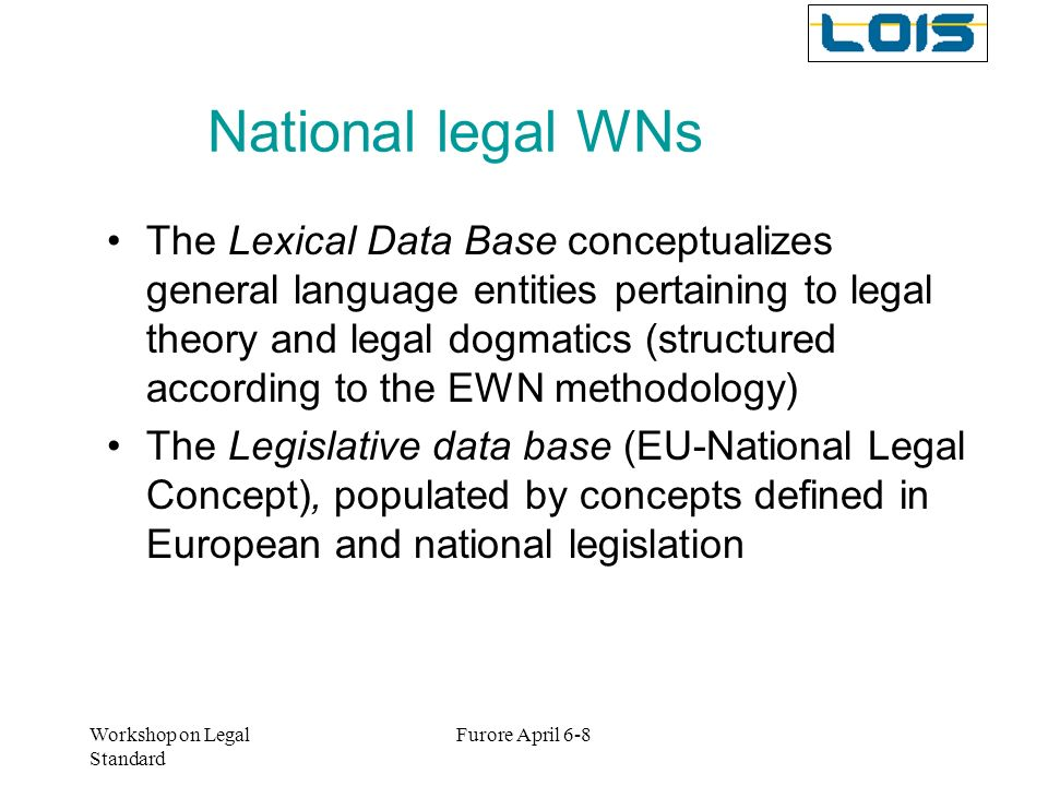 National legal WNs