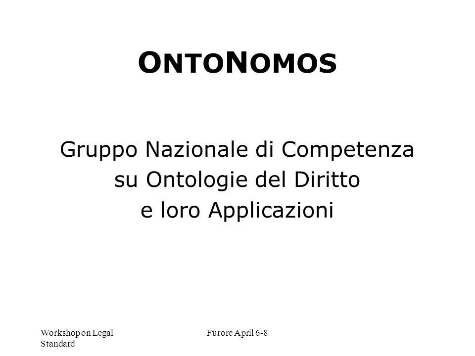 ONTONOMOS Gruppo Nazionale di Competenza su Ontologie del Diritto
