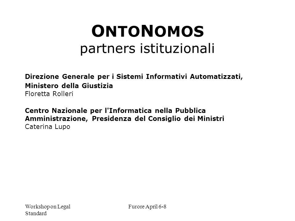 ONTONOMOS partners istituzionali