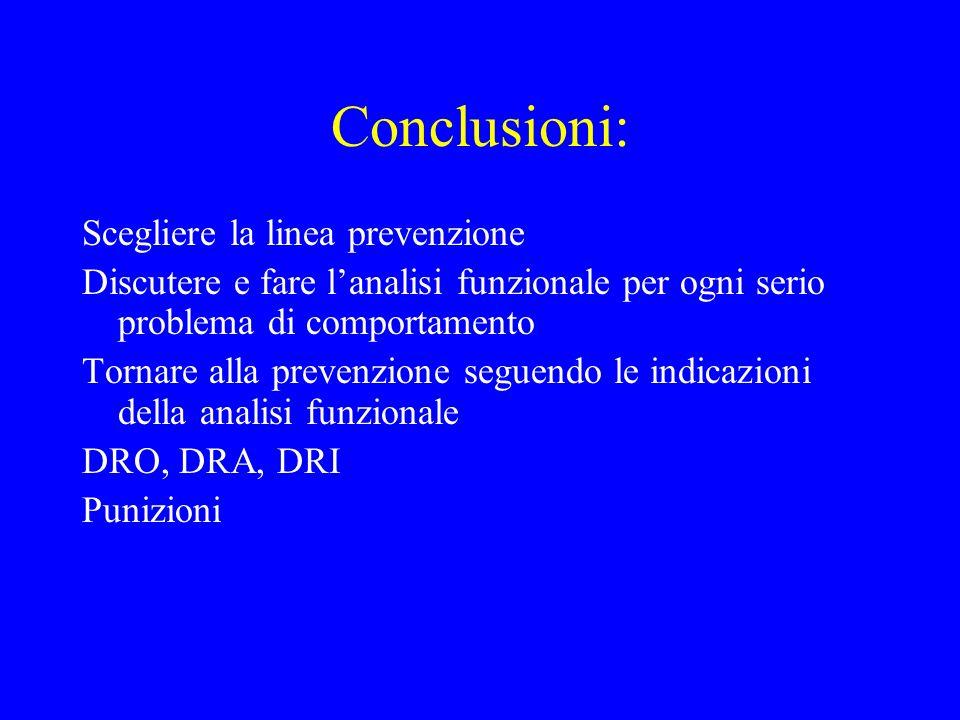 Conclusioni: Scegliere la linea prevenzione